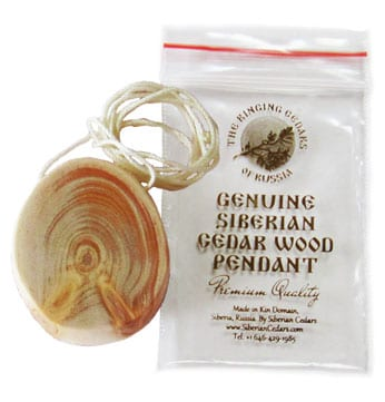 pendentif cedar oval simple