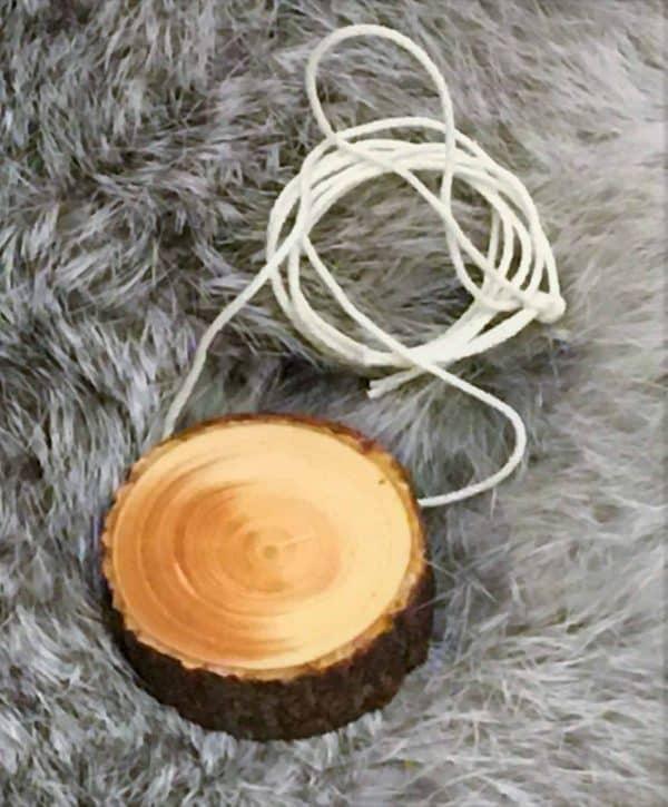 Round pendant with bark 1 scaled