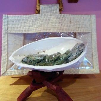Coquille céramique sac beige encens 1