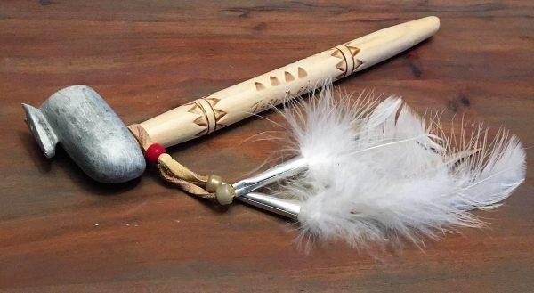 2 calumet pierre de savon clan du loup